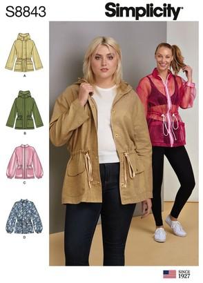 Simplicity Women's Jacket Sewing Pattern, 8843