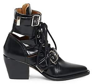 Chloé Women's Rylee Buckle Cutout Leather Boots