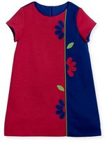 Florence Eiseman Colorblock Ponte Dress w/ Flowers, Size 2-6X