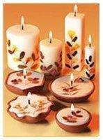 Auroshikha Candles and Incense Flower Candle Tuberose Medium Round 1 Count