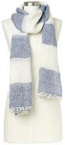 Gap Rugby stripe fringe scarf
