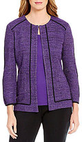 Ming Wang Jewel Neck Tweed Jacket
