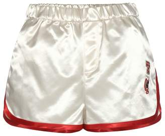 Tommy Hilfiger Satin shorts with applique