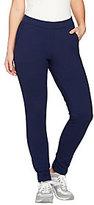 As Is Denim & Co. Active Petite Ankle Pants w/ Back Slit Detail