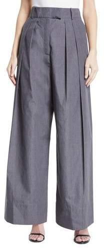 Awake Crispy High-Waist Wide-Leg Pleated Pants