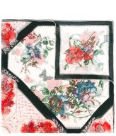 Alexander McQueen floral table cloth scarf