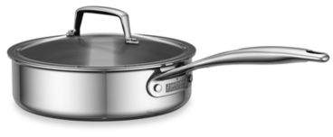 Zwilling J.A. Henckels 3 qt. Polished Stainless Steel Covered Sauté Pan
