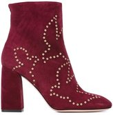 RED Valentino eyelet detail booties - women - Leather/Suede/Metal (Other) - 35