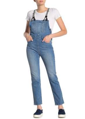Frame Stripe Suspender Denim Overalls