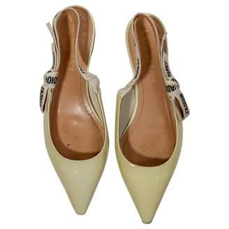 Christian Dior J'adior Beige Patent leather Ballet flats