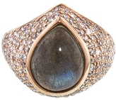 Jacquie Aiche Teardrop Labradorite Signet Ring - Rose Gold