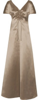 Barbara Casasola Silk-satin Maxi Dress - Mushroom