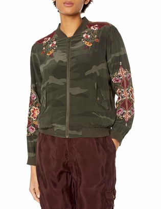 3J Workshop by Johnny was Women's Silk Embroidered Bomber Jacket