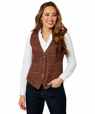 Joe Browns Women's Autumn Leaves Waistcoat Casual Blazer