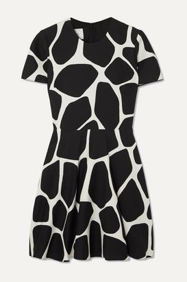 Valentino Printed Wool And Silk-blend Crepe Mini Dress - Ivory