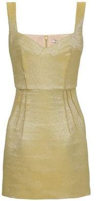 Emilia Wickstead Judita Metallic Cloque Mini Dress