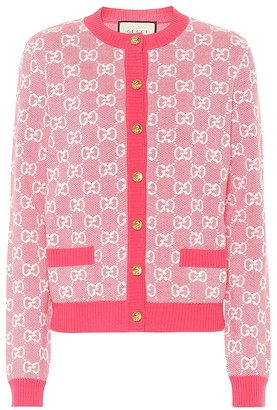 Gucci GG wool and cotton piquA cardigan