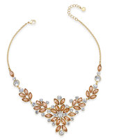 Charter Club Gold-Tone Multi-Crystal Statement Necklace, Created for Macy's