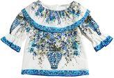 Dolce & Gabbana Maiolica Printed Cotton Poplin Shirt