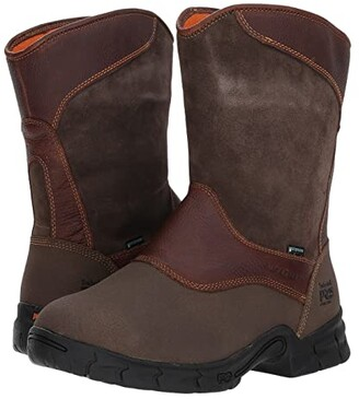 Timberland Excave Pull-On Steel Toe Waterproof Internal MetGuard (Brown) Men's Waterproof Boots