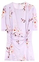 Nina Ricci Printed Silk Top