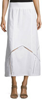XCVI Empress Linen Maxi Skirt, White