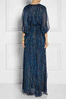 Issa Printed silk and Lurex-blend chiffon maxi dress