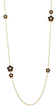 Roberto Coin 18K Yellow Gold Daisy Diamond & Black Onyx Station Necklace, 31 - 100% Exclusive
