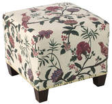 Skyline Furniture Mfg. Square Nail Button Ottoman, Shaana Holiday Red