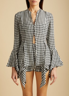 KHAITE The Elliot Top in Gingham