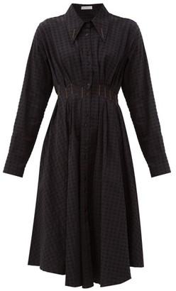 Palmer Harding Palmer//harding - Escen Waffle-check Stretch-cotton Midi Dress - Black