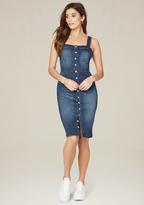Bebe Stella Button Midi Dress