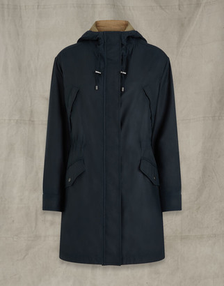 Belstaff BAYWOOD WAXED COTTON PARKA navy UK 8 /