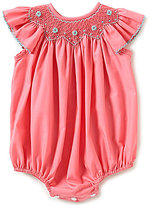 Edgehill Collection Baby Girls 3-9 Months Smocked Bubble Romper