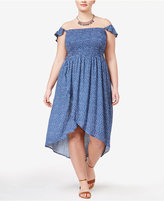 American Rag Trendy Plus Size Off-The-Shoulder Tulip Dress, Only at Macy's