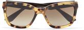 Miu Miu Square-frame embellished tortoiseshell acetate sunglasses
