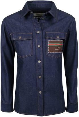 Gucci Patched Denim Shirt