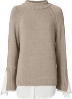 Brochu Walker Remi Tie Cuff Layered Sweater