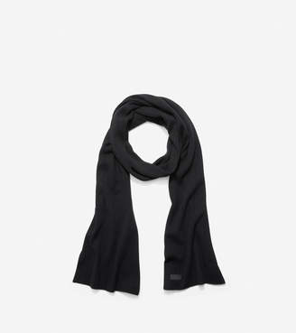 Cole Haan Cashmere Blend Rib Pointelle Muffler Scarf