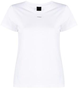 Pinko logo-print cotton T-Shirt