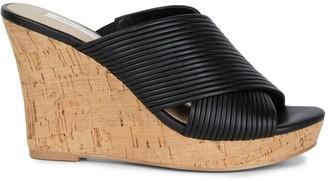 Saks Fifth Avenue Loft Smooth Cork Wedge Sandals