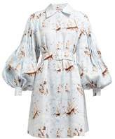 Emilia Wickstead Rowena Ship-print Shirtdress - Womens - Blue Print