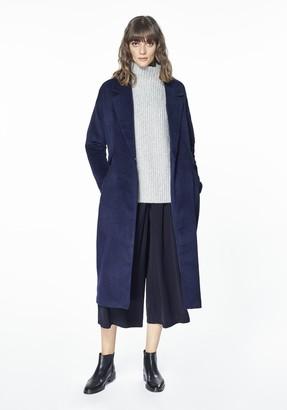 Paisie Navy Wool Coat - UK 6 - Blue