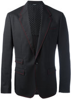 Dolce & Gabbana red stitch blazer - men - Silk/Spandex/Elastane/Virgin Wool - 48