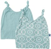 Kickee Pants Double Knot Hat Set (Baby) - Jade/Jade Symphony-12-24 Months