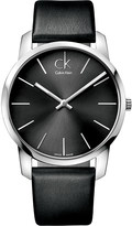 Calvin Klein K2G21107 City stainless steel and leather watch