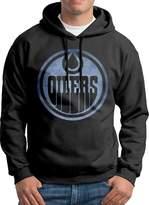 Sarah Men's Edmonton Oilers Pond Logo Hoodie XL