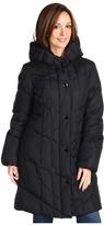 Larry Levine Jade Down Coat (Black) - Apparel