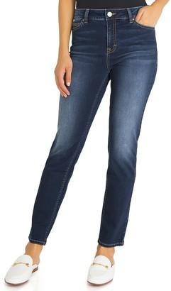 Jordache Women's Isabella High-Rise Straight-Leg Jeans