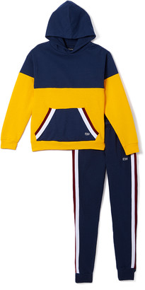 Beverly Hills Polo Club Boys' Sweatpants OLD - Old Gold Stripe Pieced Hoodie & Joggers - Toddler & Boys
